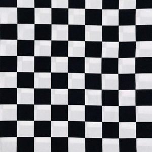 Chess Board Print Cotton Fabric